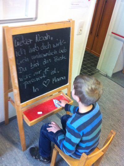 Babyboy Child Classroom Children Only Blackboard  Boys Junge Kind Kinder Mama Love ♥ Love One Boy Only School
