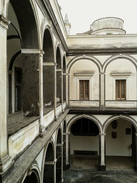 Naples Cloister Historical Place Historical Monuments