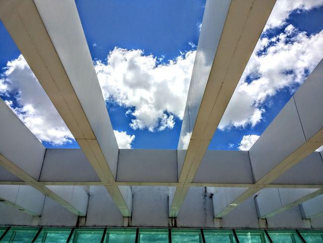 Blue Cloud - Sky Architecture Outdoors Indoors  Céu Azul. Aeroport Aeroport ✈ Cloud Maceió - AL Motog4