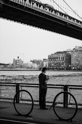 - Fisherman Streetphotography eyeemphoto Popular Photos EyeEm Best Shots EyeEm Gallery Eye4photography  Travcimages Bnw_captures Bnw_collection Blackandwhite Photography Bridge Water