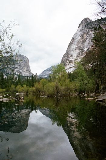 The Great Outdoors - 2016 EyeEm Awards The Great Outdoors With Adobe 35mm 35mm Film 35mmfilm Analog No People Analogue Film Photography Traveling Filmisnotdead Analogue Photography Yosemite National Park Yosemite Landscape Mirror Lake