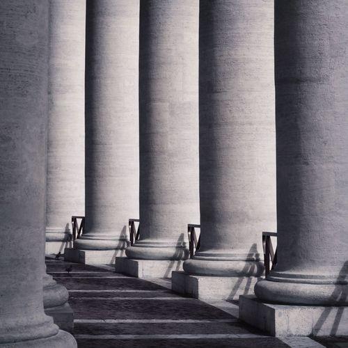 Columns of vatican museums