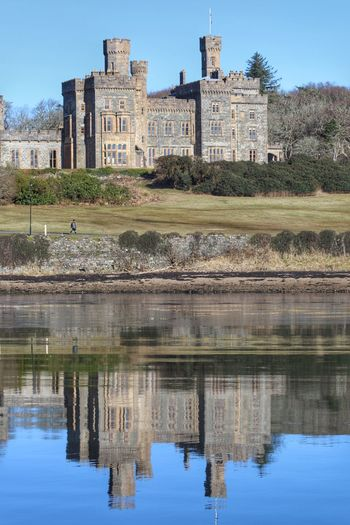 Lews Castle Reflections In The Water Reflection Stornoway Outlander Scotland Architecture Built Structure Reflection History Building Exterior Water Ancient Day Outdoors Castle Sky Travel Destinations Tree Ancient Civilization Nature
