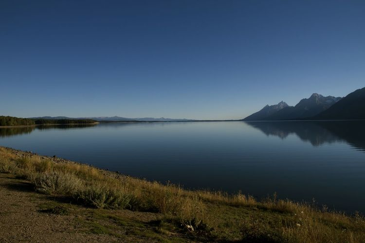 Beauty In Nature Calm Grand Tetons Grand Tetons National Park Nature Outdoors Reflection Scenics Standing Water Tranquil Scene Tranquility Water Waterfront