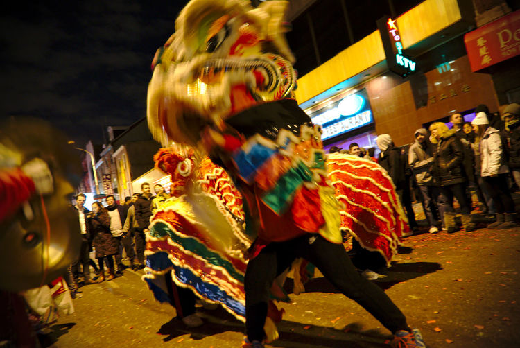 Philadelphians celebrate the Year of the Rooster with Chinese lion dances, fire crackers and more. China Town Phil Chinatown Chinese New Year Chinese New Year 2016 Chinese New Year 2017 Color Colorful Crowd Headwear Light Night Photography Outdoors People People Watching Philadelphia