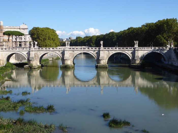 Rome Roma Italy Bridge Built Structure Reflection Reflections Reflection_collection Arches Arch Bridge Connection Reflection Arch Waterfront Tree River History Travel Destinations Day Scenics Outdoors Nature Building Exterior Tranquility No People