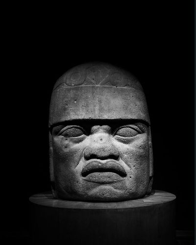 Black Background Human Face Olmeca Olmec_vision Visitmexico🇲🇽 Antropology Museum; Antropologiaehistoria
