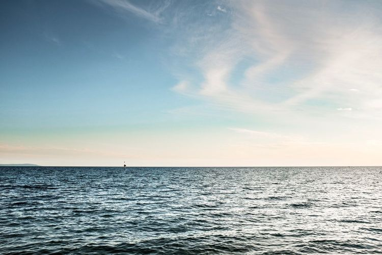 Sea Scenics Tranquil Scene Beauty In Nature Tranquility Rippled Water Horizon Over Water Idyllic Nature Sky No People Sunset Outdoors Cloud - Sky Sunlight Day
