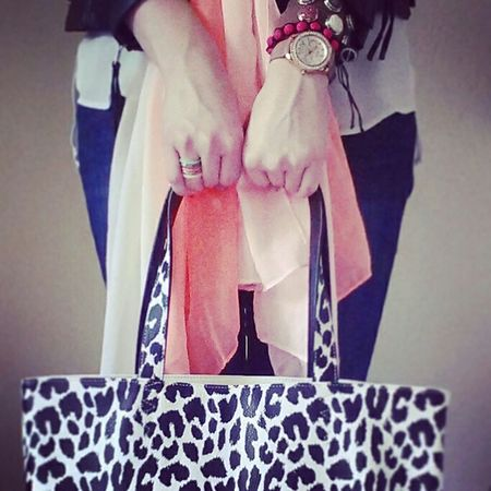 Fashion Bag Leopard Paulsboutique Reversible Outfit Armcandy Ilike Fossilwatch Scarf