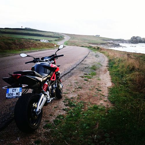 Motorcycle Aprilia Transportation Road No People Outdoors Day Sky First Eyeem Photo