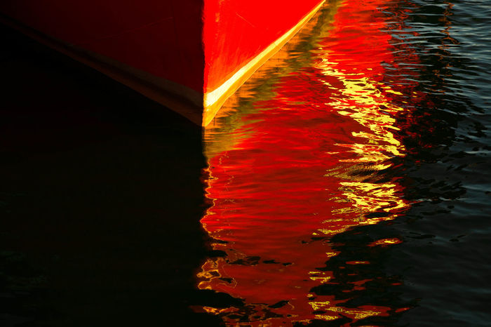 50/50 Abstract Boat Day Harbor Multi Colored Nature Nautical Vessel No People Outdoors Red Sea Sea View Shade Of Red Shadow Water Water Reflections Water Surface Wave Wave Pattern Waves