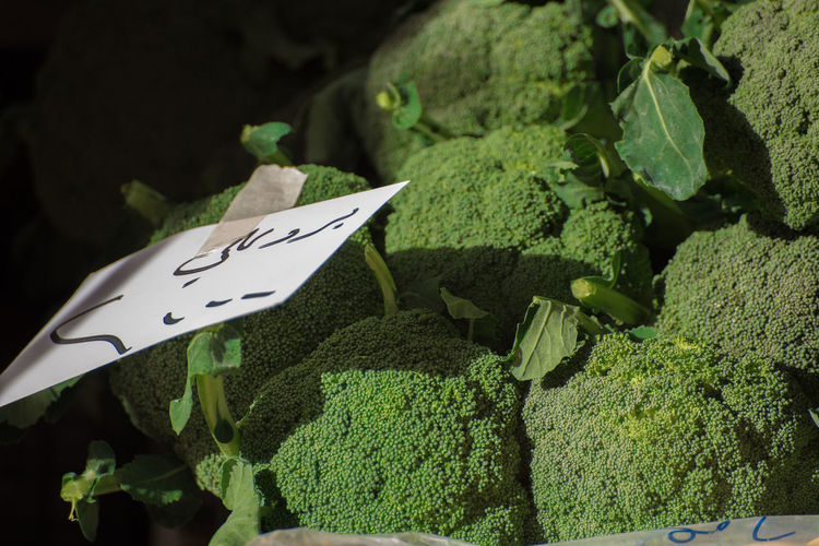 Brocolli Green Color No People Healthy Eating Close-up Day Outdoors Freshness