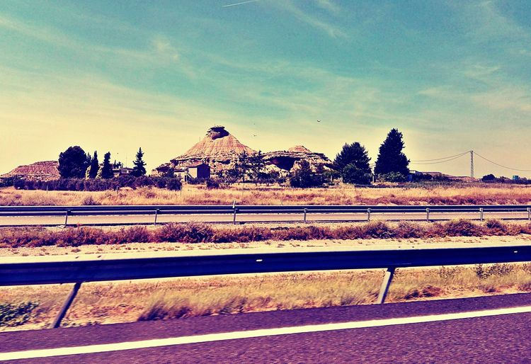 Travel Car Trip SPAIN Spain Is Different Crash Barrier Country Road Road Trip Landscape Rock Formation Holiday♡ No People