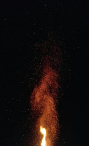Night Red Astronomy Space And Astronomy Star - Space No People Galaxy Space Luminosity Outdoors Science Sky Beauty In Nature Erupting Nature Fire Fireworks Heat Funkenflug Sparks Funken