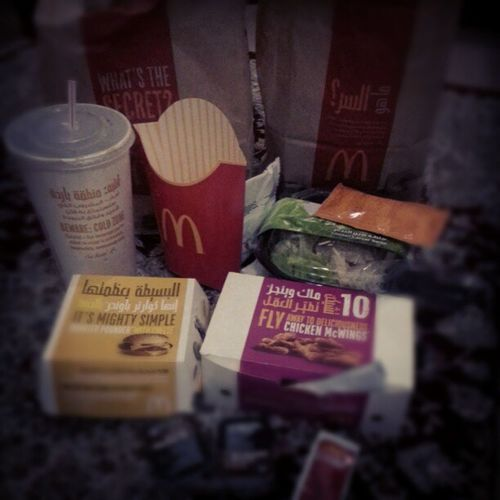 Mcdonalds Quarter  Pounder Chicken caesar salad mlMcWINGS