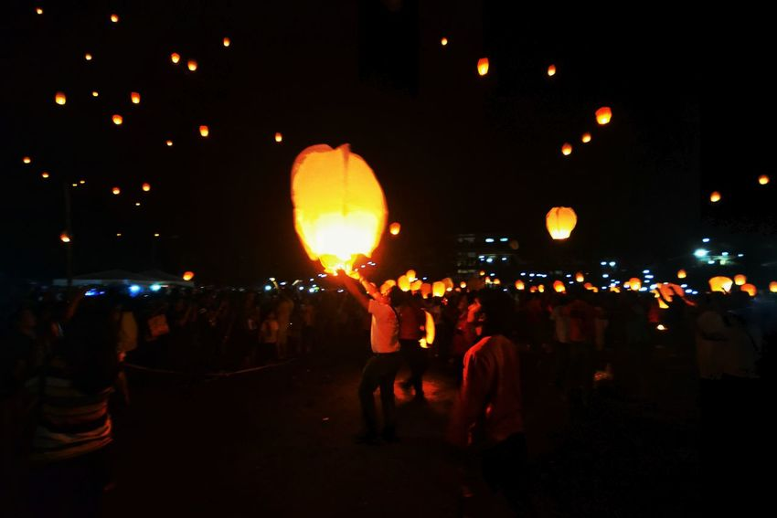My Year My View YolandaPh 3YearsAfter Tacloban, Philippines Sky Lantern Nightphotography First Eyeem Photo