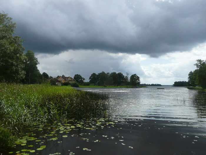 landscape scene in Sweden Beauty In Nature Calm Cloud Cloud - Sky Cloudy Grass Harmony Lake Landscape Nature Nature Outdoors Scandinavia Schweden Sky Tranquil Scene Tranquility Travel Urlaub Water Weather Wolken