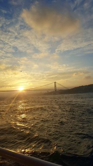 Osmanli Palast Istanbul Sea Sunset Sky Water Transportation Beauty In Nature Scenics
