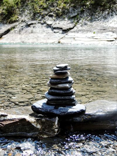 Equilibrium Simmetry Summer Freshness Rocks And Water Riverside Water Stack Day No People Tranquility Outdoors Tranquil Scene