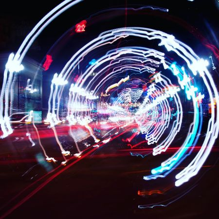 Illuminated Multi Colored Night No People Glowing Architecture Light - Natural Phenomenon Technology Abstract Long Exposure Motion Building Exterior City Futuristic Red Blurred Motion Pattern Tunnel Lighting Equipment Internet