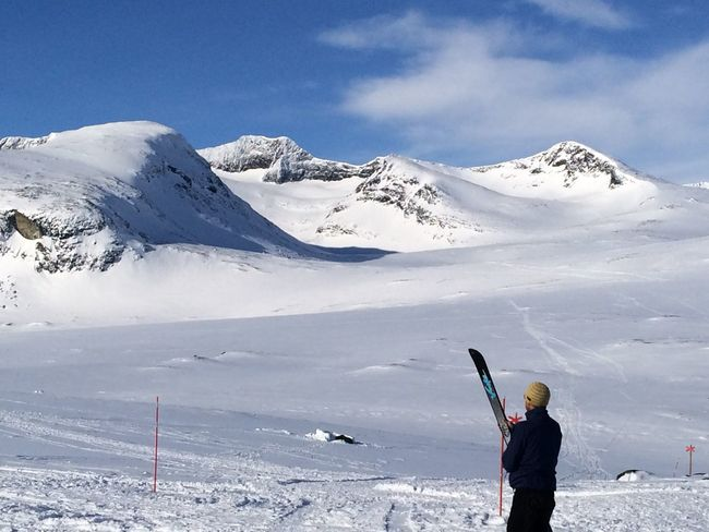 View towards Sylarna Eastern Holidays Jamtland Leisure Activity Lifestyles Mountain Nature One Person Outdoors Ski Holiday Skiing Snow Sylarna Vacations Wilderness Winter