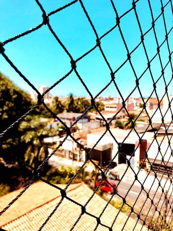 Fence Barrier Boundary Chainlink Fence Security Sky Nature