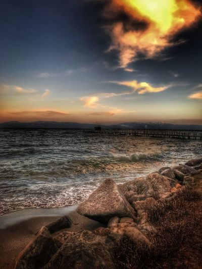 Sea Nature Beauty In Nature Scenics Water Beach Sky Outdoors Horizon Over Water Cloud - Sky Sunset Tranquil Scene Travel Destinations Tranquility No People Sand Wave Day