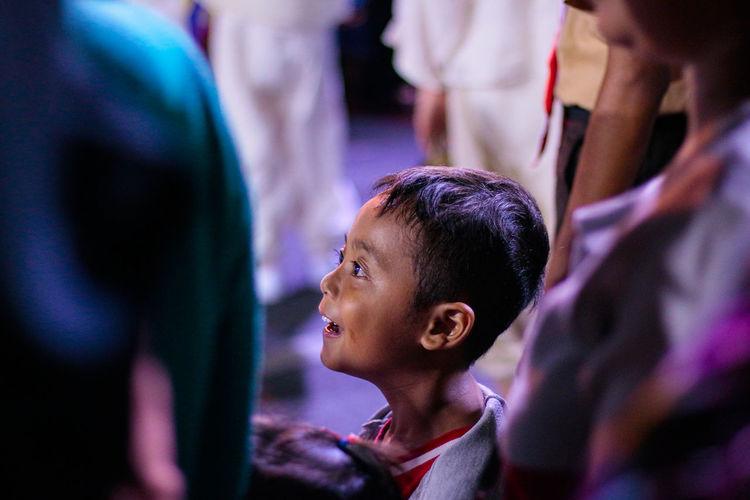 Portrait of a boy looking away