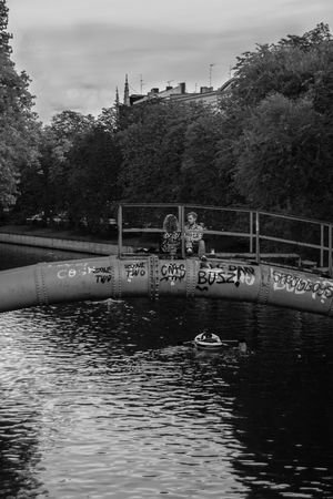 #Berlin #blackandwhite #bw #bnw #BWcollaboration #istanbul #blackwhite #blackandwhite #love #theweekoneyeem Architecture Bridge - Man Made Structure Day Outdoors River Sky Water Discover Berlin Stories From The City