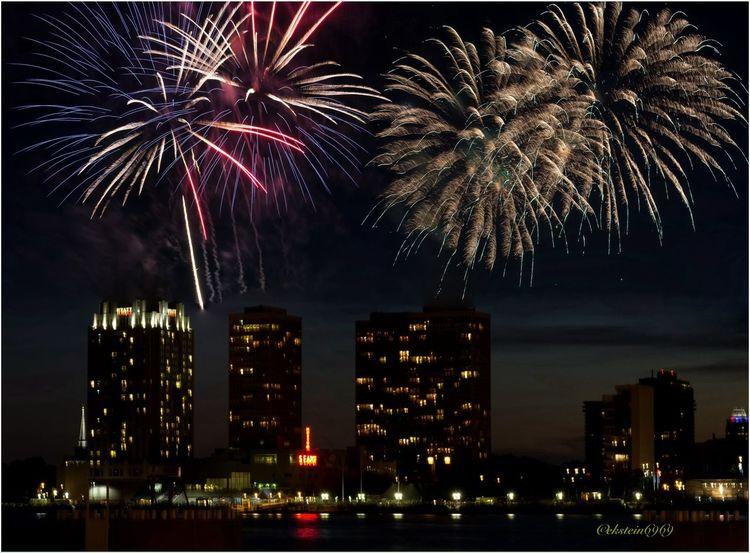 Night Photography Night Lights Skyline Fireworks