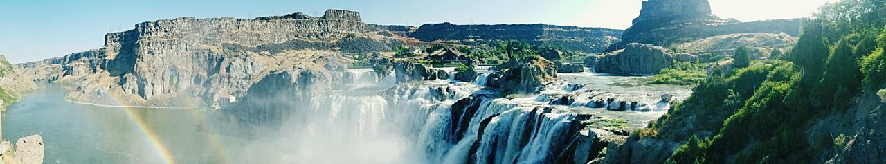 Been There. Shoshone Falls, Idaho Rainbows Double Rainbows Cliff Rock - Object Mountain Steep Landscape Travel Nature Scenics Waterfall Water Wilderness Panoramic Travel Destinations Outdoors Adventure No People Day Sky Beauty In Nature Rock Face Lost In The Landscape