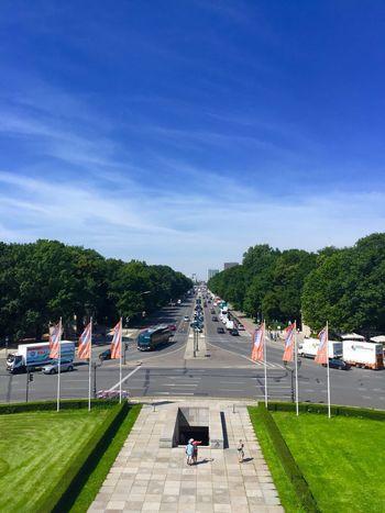 Berlin Siegessäule View Sky Tree Day Cloud - Sky Real People Outdoors Men Blue Sunlight Grass