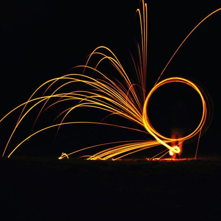 Motion Night Long Exposure Celebration Blurred Motion Sparks Multi Colored Light Effect Arts Culture And Entertainment Outdoors Wire Wool Exploding Firework Display Sky No People Chrixxo Check This Out Beauty In Nature Black Background