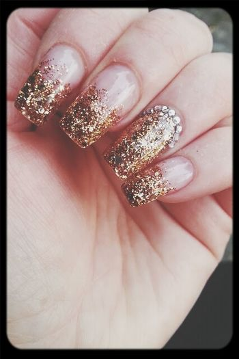 Bling Bling My Beautiful Nails Golden Sparkling Jewels !