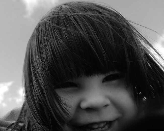Taking Photos HAPPY GIRL! Happy :) Enjoying Life Children's Portraits Funny Kid Funny Face Funny Girl Black And White Portrait Eye4black&white  Blackandwhite Photography Kids Authentic Moments