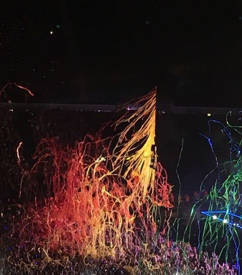Coldplay Concert  Night Long Exposure Illuminated Glowing Motion Colourful Confetti 🎉 Fans Good Times Happiness Emotion Live Music Arena oOutdoors