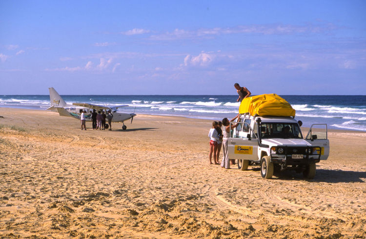 Jun 2004 - Fraser Island Off Road Driving Air Transport Beach Beauty In Nature Cloud - Sky Day Incidental People Land Land Vehicle Leisure Activity Mode Of Transportation Motion Nature Ocean Horizon Outdoors Pacific Ocean Real People Sand Scenics - Nature Sea Sky Transportation
