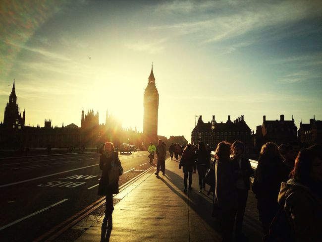 London Silhouette Sunset Silhouettes Sunset Streetphotography People