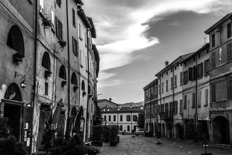 Brisighella, Italy Brisighella Italy Italia Emiliaromagna No People Outdoors Building Exterior Architecture Built Structure Sky Cloud - Sky Building City Residential District Window Street Day Old The Way Forward Direction House Row House Blackandwhite