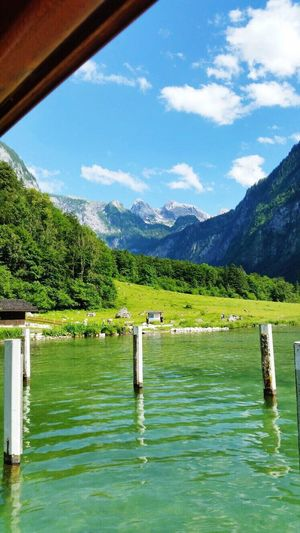 Beauty In Nature Königssee Mountain Water Lake Nature Scenics Salet Waterfront Grass Tree Outdoors Summer Summer2016 Beautiful Nature Beautiful Beautiful View Nofilter