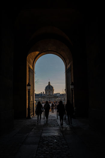 Architecture Arch Group Of People Built Structure Real People History Women The Past Men Lifestyles Travel Destinations Tourism Adult Travel People Building Exterior Day Building Walking Outdoors Paris Paris, France  Silhouette Historical Building My Best Photo