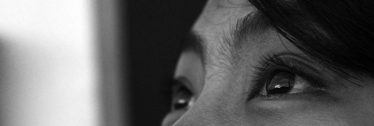 Watching. Eyes Watching Black And White