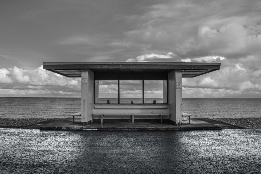 Architecture Blackandwhite Landscape Llandudno Sea Front Seaside Sky And Clouds Water