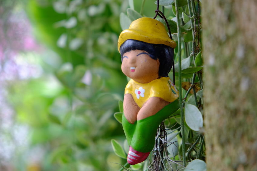 Eaglet EyeEm Selects Tree Headwear Yellow Adventure Hanging Smiling Extreme Sports Child Forest Close-up Rappelling Rope