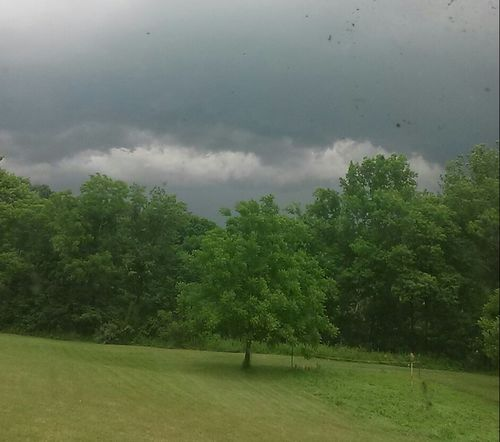 No Edit Storm Clouds Gathering Stormy Weather Clouds And Sky Clouds Trees Green Green Green!  Grass Sky And Clouds