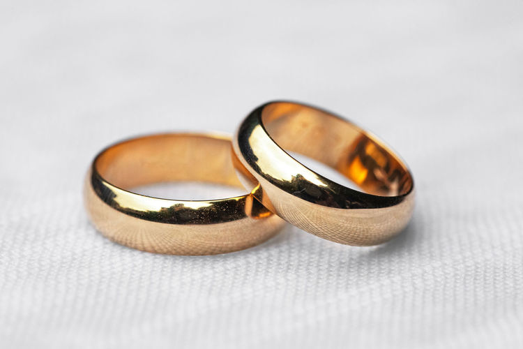 Close-up of wedding rings