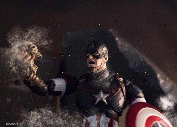 Marvellegends Marvelshots Figuarts Plasticcrack Photography Captainamerica Toyphotography Toysoutdoors Civilwar Toys