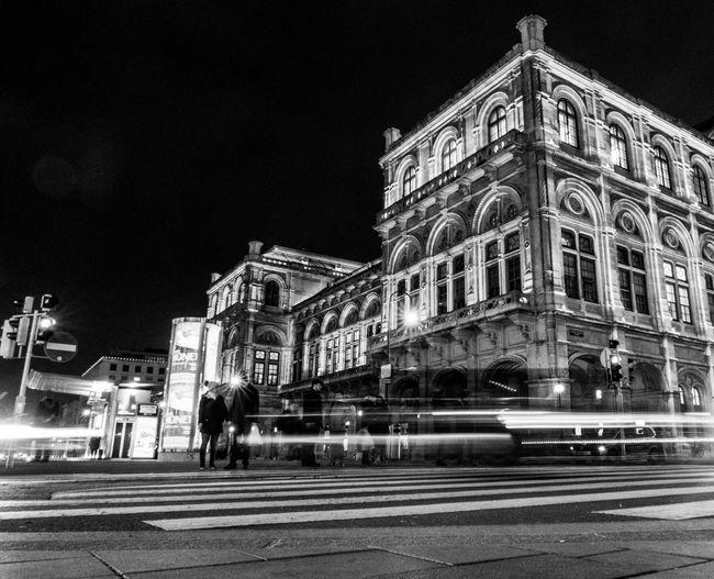 Vienna, Teatro dell'Opera Canong7xmarkii Canon Vienna Architecture Building Exterior Built Structure Night Illuminated Building City Travel Street First Eyeem Photo