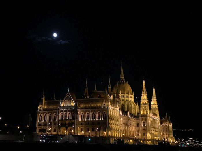 Night Illuminated Built Structure Tourism Outdoors No People City PalaPhoto Hungary Budapest Parlament Of Hungary Parliament