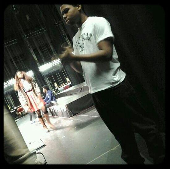 Ben Backstage In Theatre